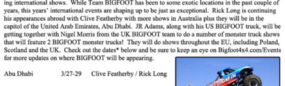 News – 2014 – BIGFOOT World Tour 2014