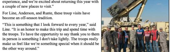 News – 2014 – Summit Drivers To Visit Troops – Update
