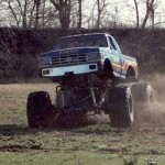 Andy testing BIGFOOT #8 with 48 inch tires.