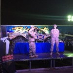 Commander Lt. Col. Leung introduced the Summit Racing BIGFOOT 4x4 Monster Truck to the troops on the second night of the show.